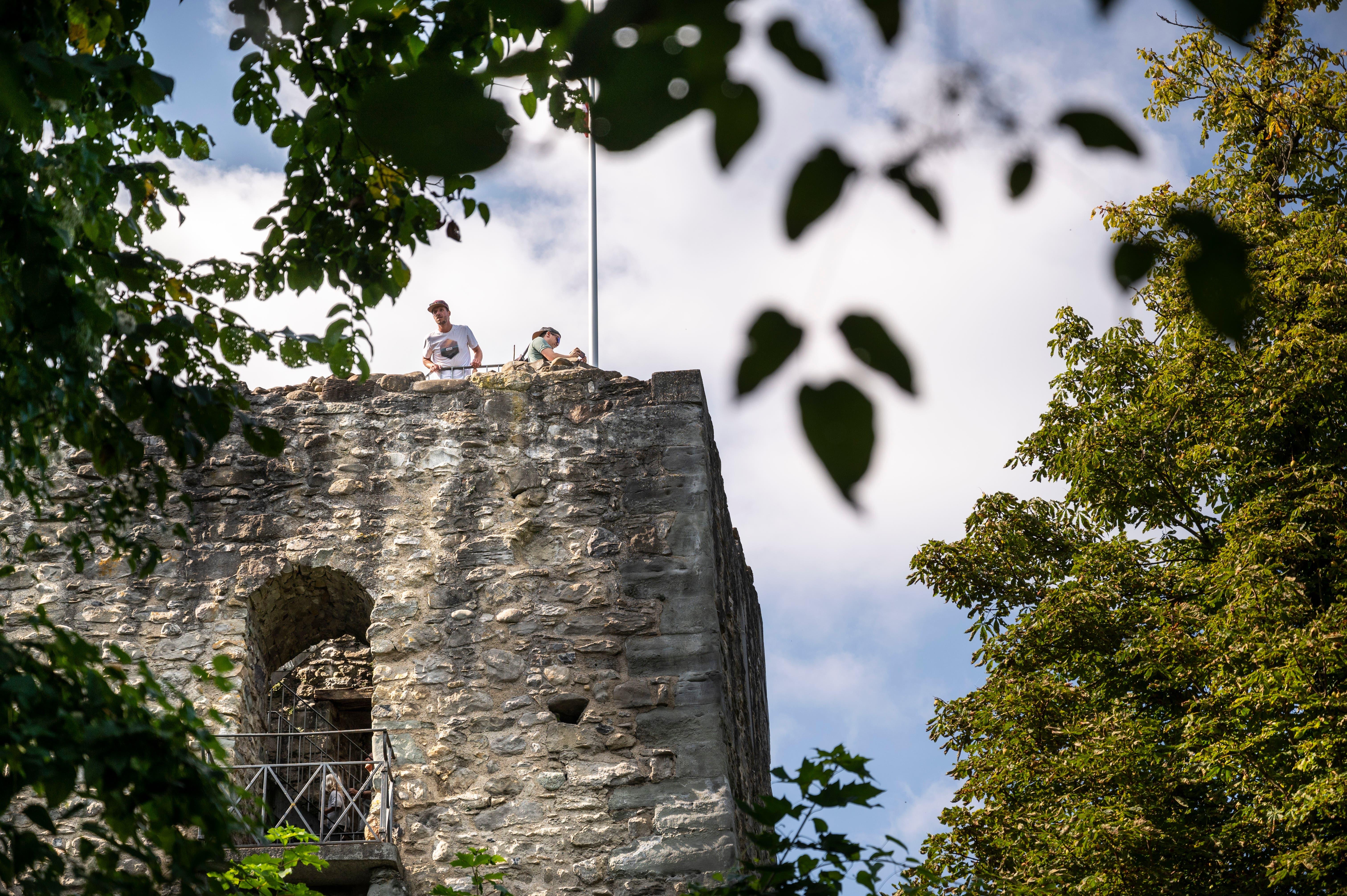 Am Ruinenfest auf der Ruine Castell in Tägerwilen.