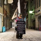 Solche Bilder wollen wir nächstes Jahr nicht mehr sehen – die leereHertensteinstrasse am Schmudo-Morgen 2021. (Dominik Wunderli (Luzern, 11. Februar 2021))
