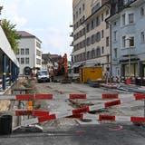 Die Baustelle an der OltnerHübelistrasse bleibt noch mindestens bis Ende 2021 bestehen. (Bruno Kissling)