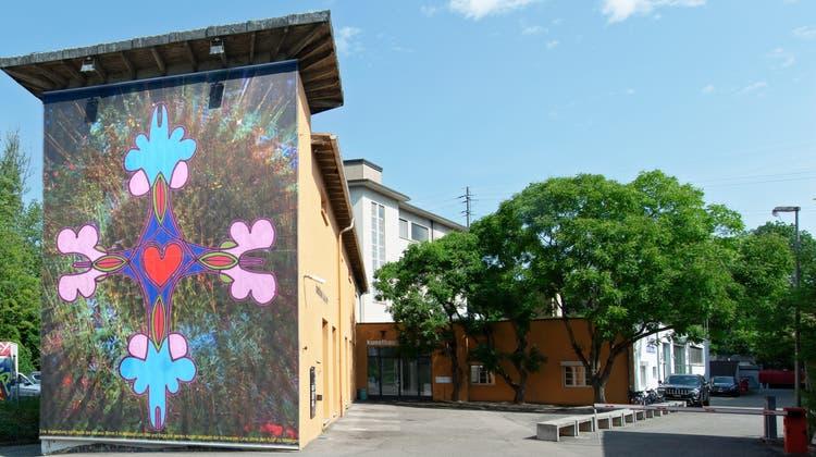 Das Aussenprojekt von Steiner&Lenzlinger am Kunsthaus Baselland. (zvg / Gina Folly)