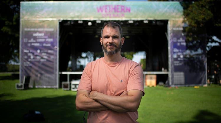 Organisator Diego Schweizerfreut sich, dass das WeihernOpenair nach der letztjährigen Zwangspause wieder stattfinden kann. (Bild: Benjamin Manser (14. September 2021))