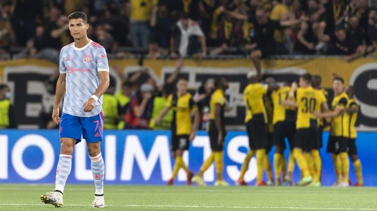 Was für ein Abend!Superstar Ronaldo jubelt früh - doch YB kämpft sich zum Sieg gegen Manchester United