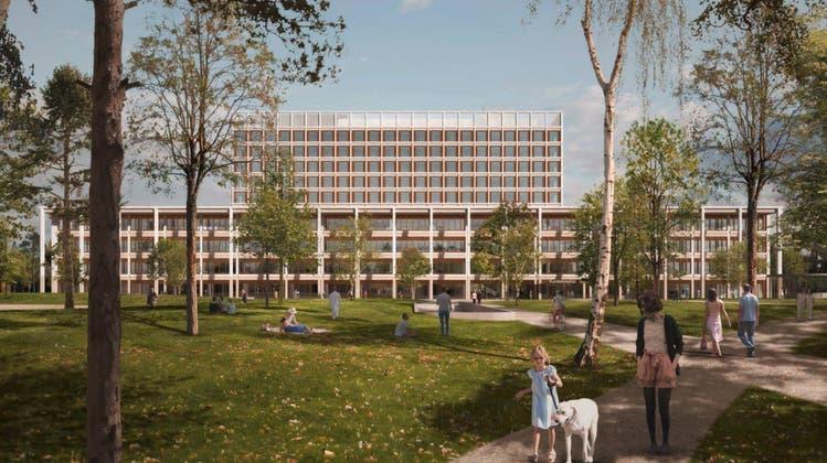 Der Neubau des Kantonsspitals Baden (KSB) im August 2021. (Zvg / Ksb / Aargauer Zeitung)