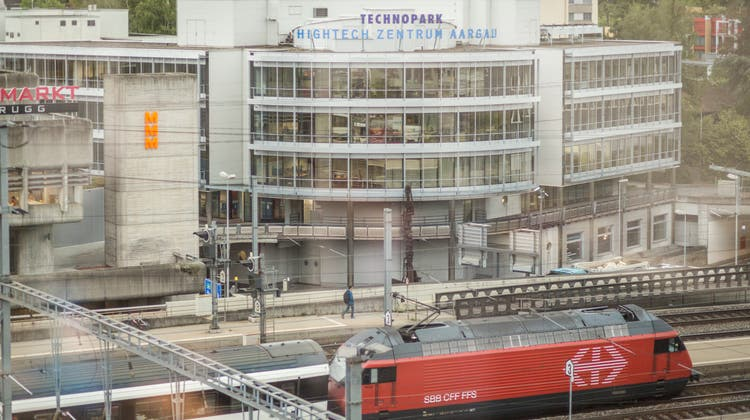 Das Hightech Zentrum in unmittelbarer Nähe zum Bahnhof Brugg. (Chris Iseli)