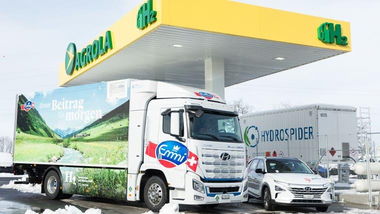 In Rothenburg eröffnete im Januar die erste Wasserstofftankstelle im Kanton Luzern. (Bild: PD)