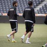 Der Innenverteidiger Kevin Medina und sein Team aus Qarabag werden keine einfache Hürde für den FCB. (Bild: Keystone SDA)