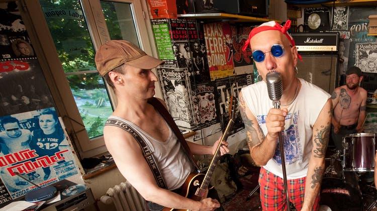 Die Luzerner Punk Band Moped Ladsvor zehn Jahren im Sedel. (Bild: Dominik Wunderli (Luzern, 17. August 2012))