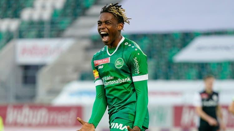 JuniorAdamuerzielte acht Tore für den FC St.Gallen (Bild: Claudio Thoma/Freshfocus)