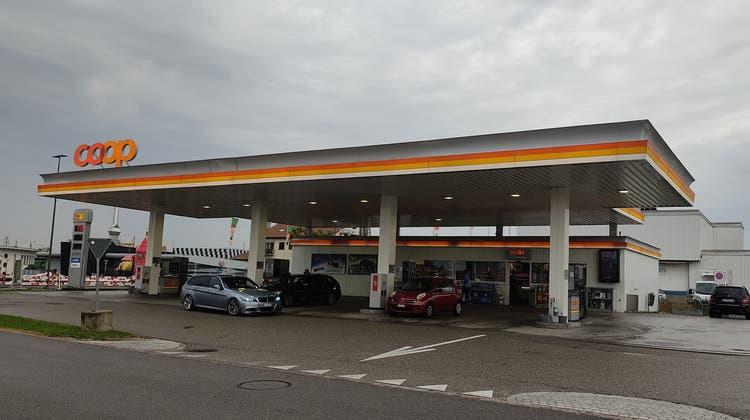 Der Tatort: die Coop Pronto-Tankstelle in Hunzenschwil. (Valérie Jost)