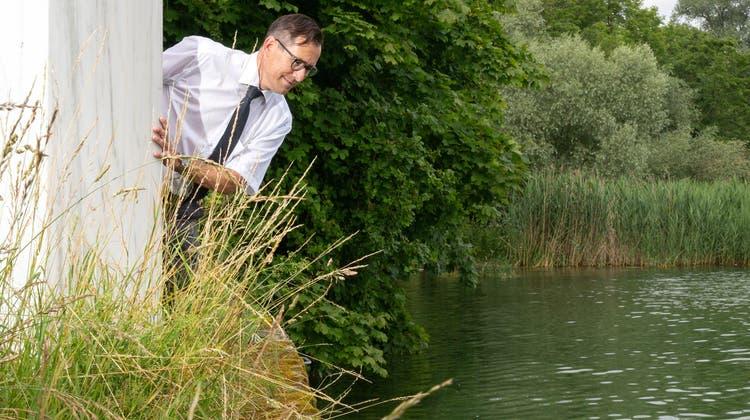 Sieht Potenzial in der thermischen Nutzung des Seewassers: Regio-Kreuzlingen-Präsident René Walther. (Bild: Tobias Garcia)