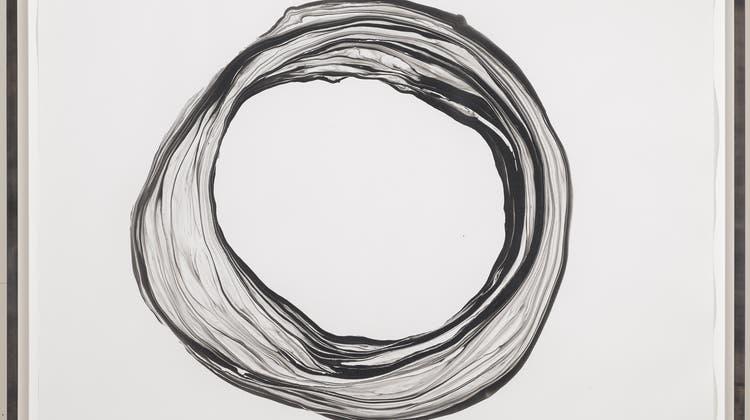 «Corona IX» heisst die Zeichnung von Franziska Furter. Sie ist aber virusfrei! Blatt: 151 x 125.5 cm; Tusche; 2012. 2015 vom Kunstmuseum Basel angekauft. (Bild: Martin P. Bühler / Kunstmuseum Basel)