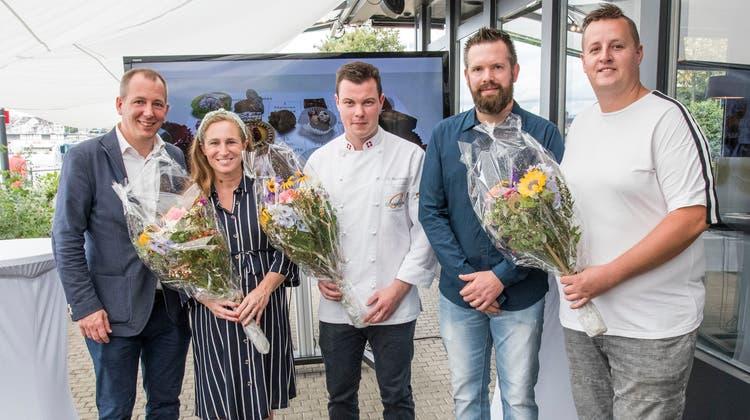 Die Gewinner (von l. nach r.): Andreas und Charlotte Kuster, Dominique Buchmann, Marius Ziegler und Jeremy Eberle. (Nicole Nars-Zimmer)