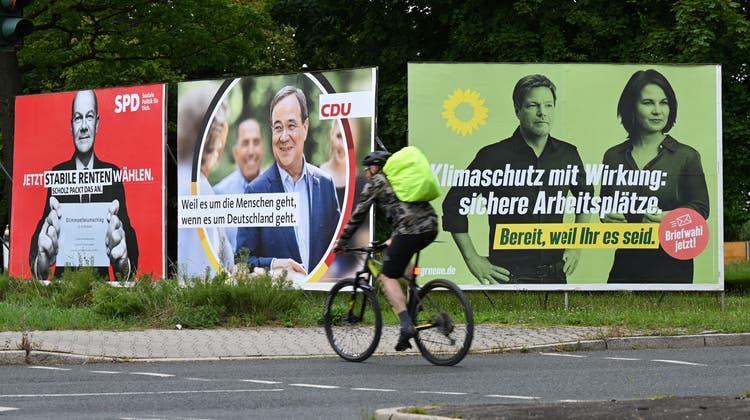 Olaf Scholz, Armin Laschet oder Annalena Baerbock? Deutschland wählt am 26. September. (Keystone)