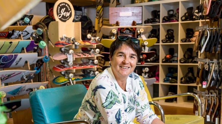 Silvana Biedermann vom Sportgeschäft Gecko in Baden. Es feiert in diesem Jahr sein 25-Jahre-Jubiläum. (Bild: Sandra Ardizzone)