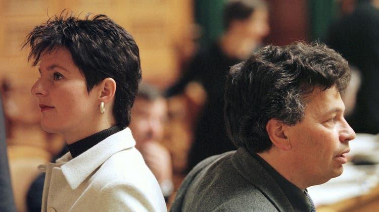 Andreas Herczog (hier mit Ruth Metzler) sass 20 Jahre im Bundesparlament. (Keystone)