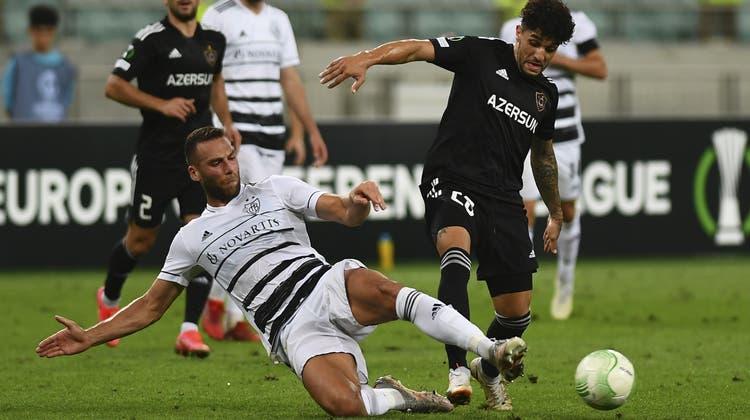 Wouter Burger spielt von Anfang an gegen den Qarabag FK. (Aziz Karimov / AP)