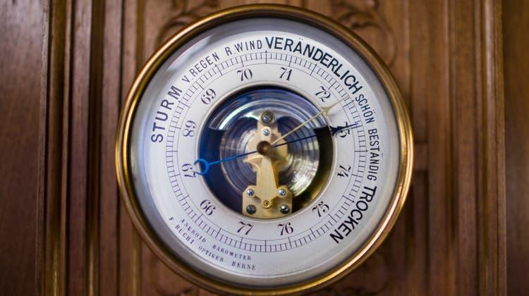 Wenn aus dem Barometer ein Bääremeeter wird. (Bild: Keystone)