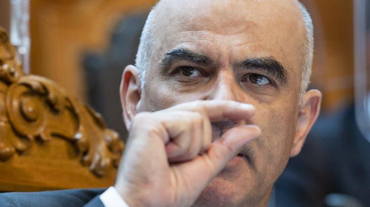 Eine private Angelegenheit? Bundesrat Alain Berset. (Alessandro Della Valle / Keystone (Bern, 14.9.2021))