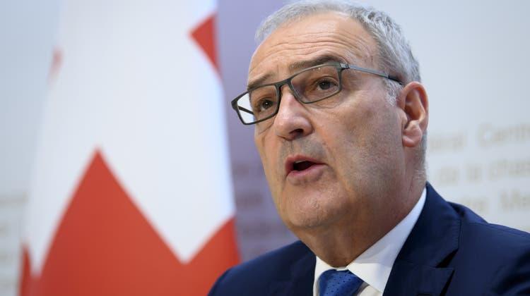 Bundespräsident Guy Parmelinpräsentierte die Pläne zur Stärkung des Schweizer Forschungsstandorts. (Symbolbild) (Keystone)