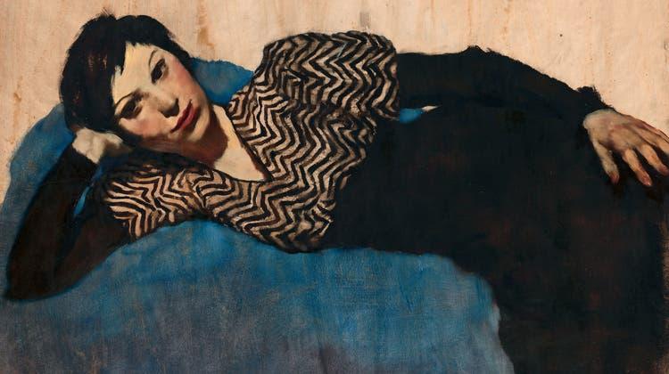 Lotte Laserstein, «Liegendes Mädchen auf Blau», um 1931. (zvgProLitteris/Anja Elisabeth Witte)