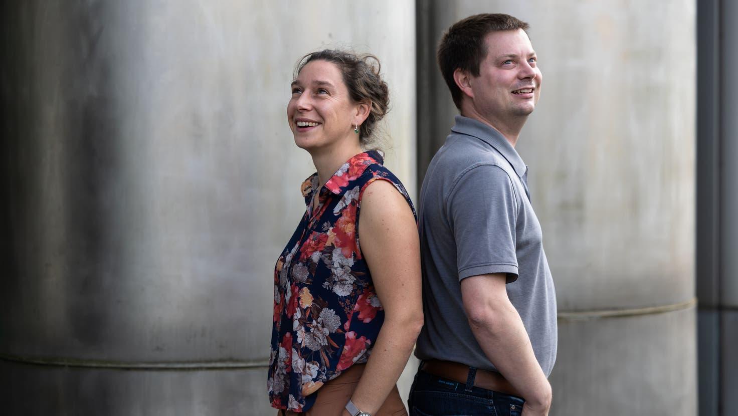 Wer hat die nächsten vier Jahre das Vize-Stadtpräsidium in Solothurn inne? Zur Wahl stellen sich Laura Gantenbein (Grüne) und Pascal Walter (CVP). (Hanspeter Bärtschi)