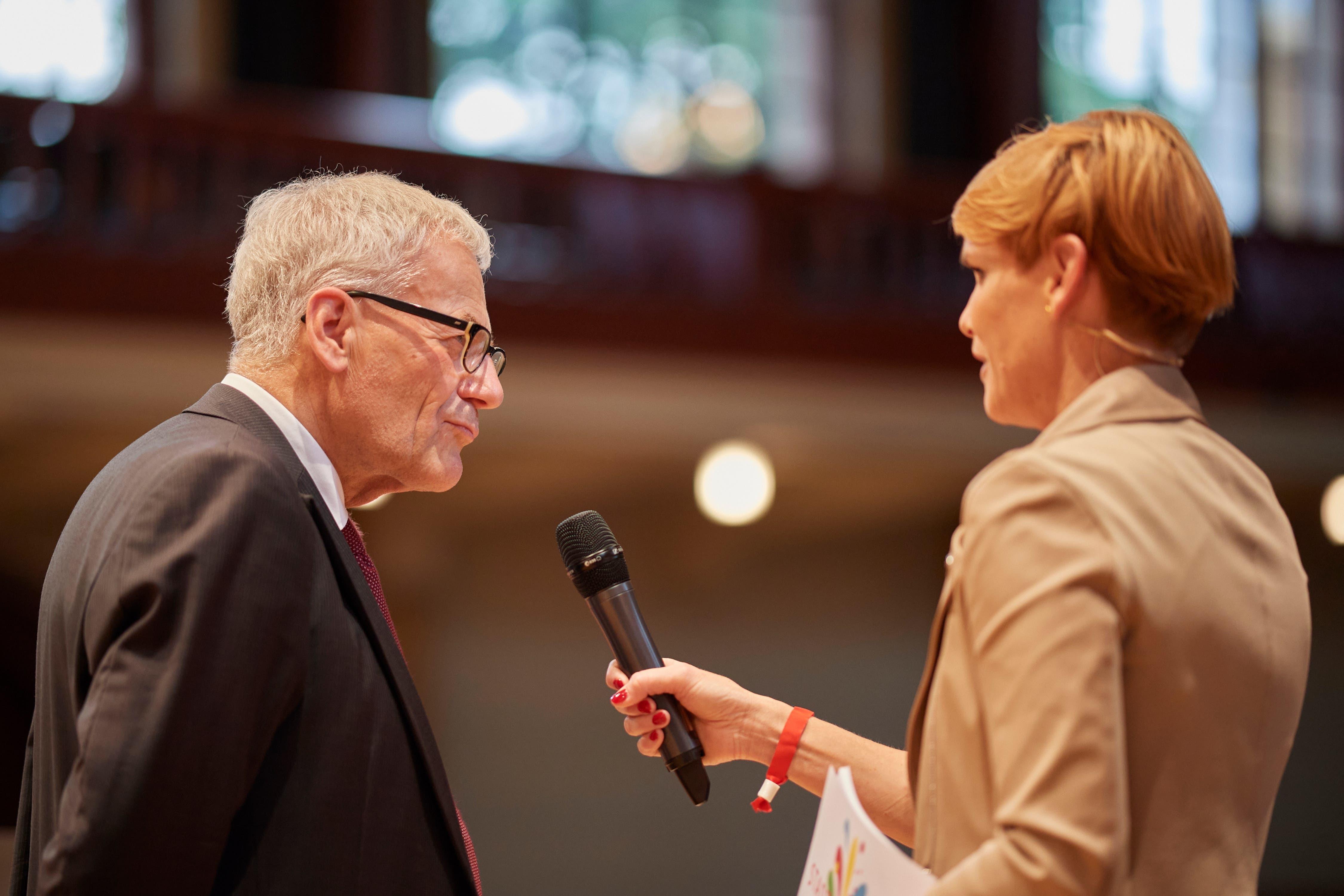 Auch Stadtpräsident Kurt Fluri wurde von Sandra Boner interviewt.