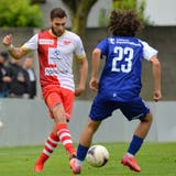 Emmanuel Mast brachte den FC Solothurn in der 12. Minute mit seinem zweiten Saisontor auf die Siegerstrasse. (Hans Peter Schläfli)