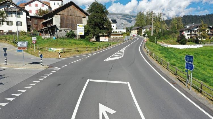 An dieser Stelle geschah der tödliche Unfall. (Kapo Graubünden)