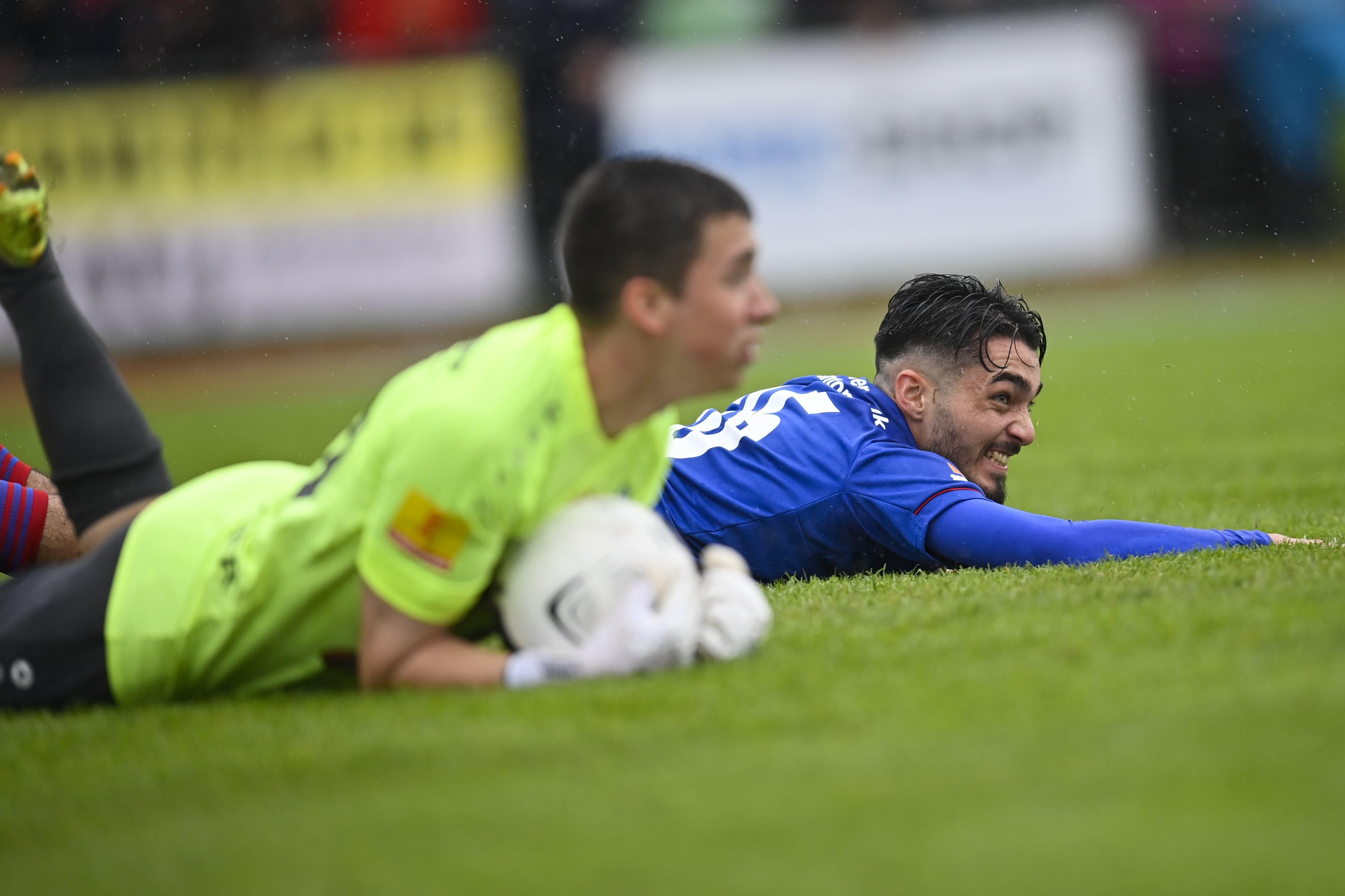 Der FCB und Matias Palacios kommen in der ersten Halbzeit gegen den FC Rorschach-Goldach nur zu einer 1:0 Führung.