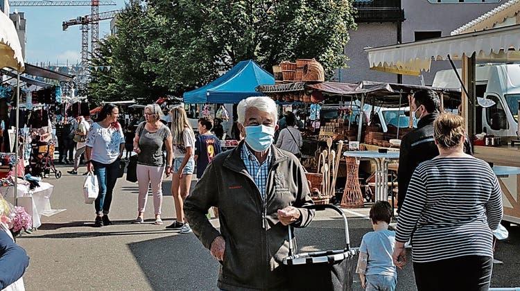 Viele Besucher am Herbstmarkt in Heerbrugg