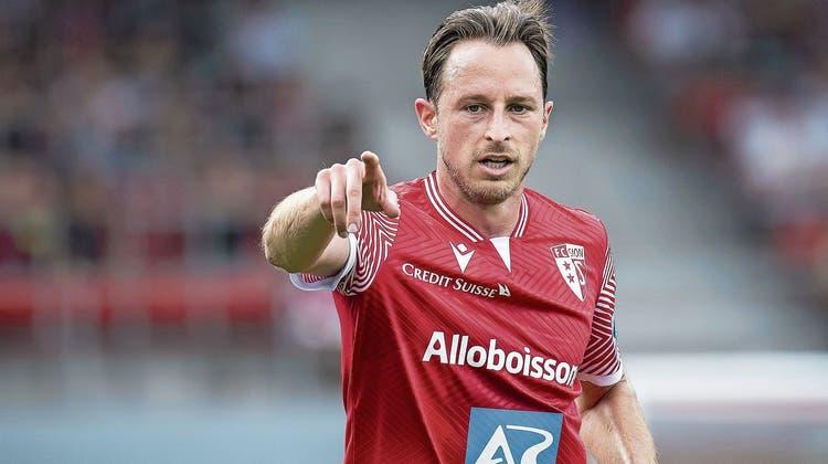 Luca Zuffi trägt nach sieben Jahren beim FCB, neu das Trikot des FC Sion. (Bild: Keystone)