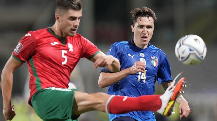 Europameister Italien, nächster Quali-Gegner der Schweizer Nati, wusste gegen Bulgarien nicht zu überzeugen. (Keystone)