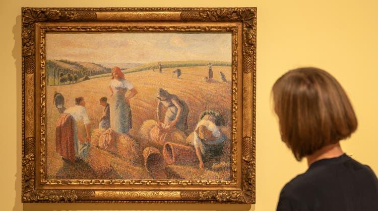 Respektvoller Blick auf ländliche Szenerie: «Les Glaneuses» von Camille Pissarro aus dem Jahr 1889. (Georgios Kefalas/ Keystone)