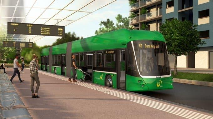 Auf der Linie 50 der BVB verkehren ab Ende 2022 acht E-Doppelgelenkbusse. (Twitter, BVB Leitstelle)