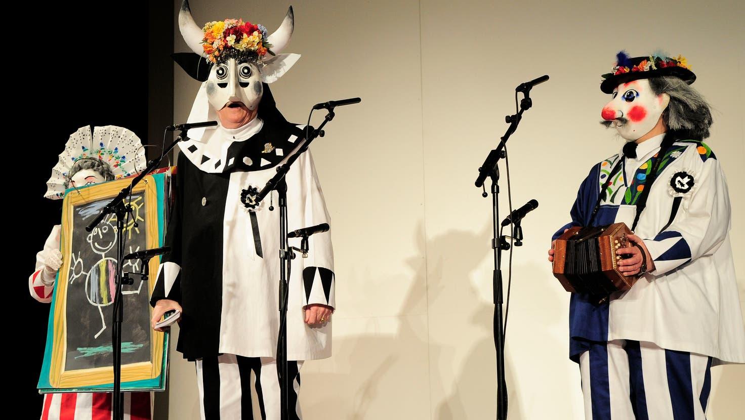 Der Schnitzelbank Peperoni im Basler Stadttheater im Jahr2012. (Kenneth Nars)