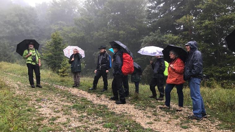 Die Exkursionsgruppe am Bettlachstock (zvg)