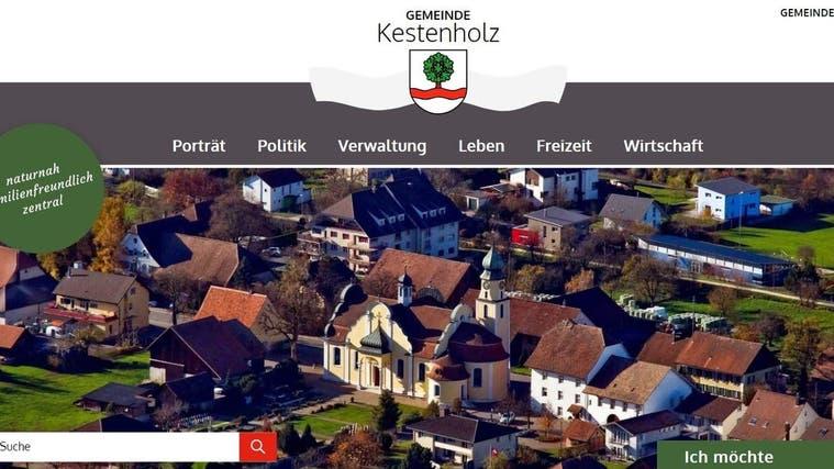 So sieht die neue Website der Gemeinde Kestenholz aus. (Screenshot kestenholz.ch)