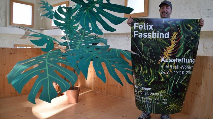Der Murianer Künstler Felix Fassbind macht das Schlössli in Wohlen zum Dschungel. (Andrea Weibel)