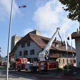Auch ein Helikopter war im Einsatz. (Kapo Solothurn)