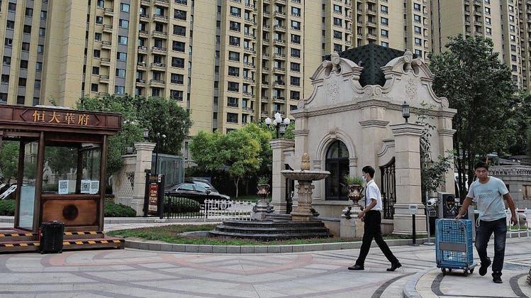 Hoch hinaus: Das wollte Evergrande mit seinen Wohntürmen, wie etwa in Peking. (Keystone)