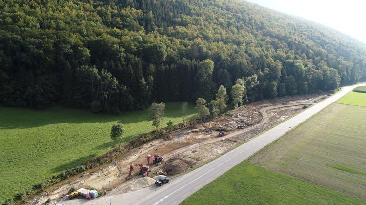Derzeit wird die Dünnern zwischen Herbetswil und Welschenrohr auf einer Strecke von fast 1,5 Kilometern revitalisiert. (Bruno Kissling)