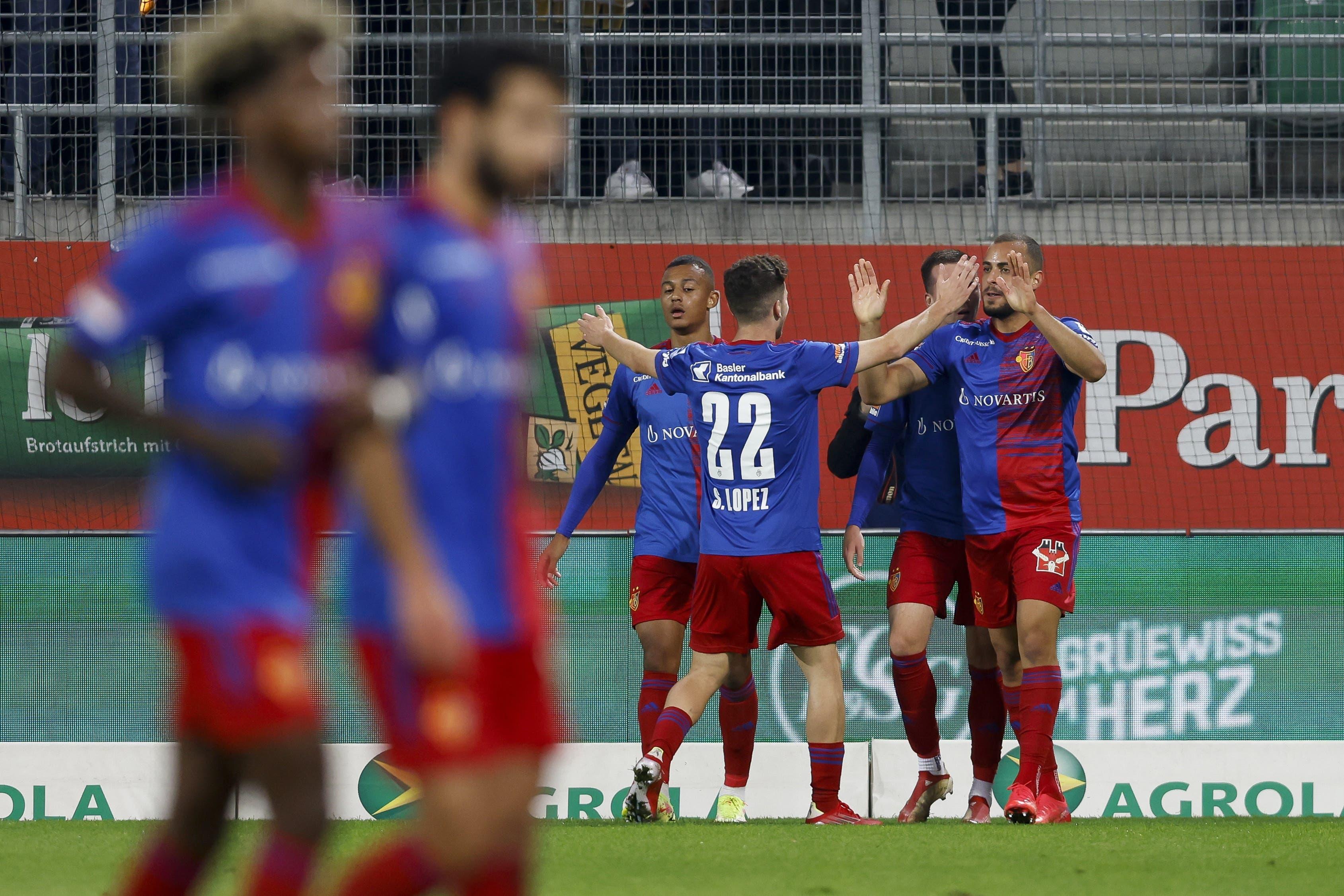 Jubeln darf aber der FC Basel das erste Mal, weil die Jubelgarantie Arthur Cabral das 1:0 für die Gäste erzielt.