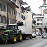 Auf die Umfahrung oder durch die Altstadt? Mellingen macht sich Gedanken über Traktor und Co. (Alexander Wagner)