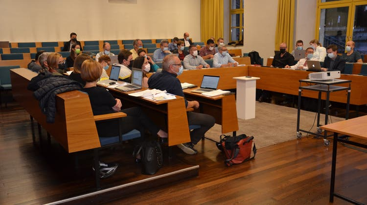 Der Gemeinderat Solothurn bei einer Sitzung (Archivaufnahme). (Fabio Vonarburg)