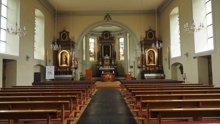 Die St.-Mauritius-Kirche in Wölflinswilwird dieses Jahr 200 Jahre alt. (Bild: twe (20. August 2021))