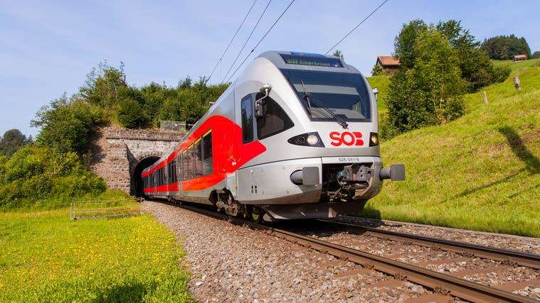 Der Zugverkehr zwischen Herisau und Degersheim war am Mittwochnachmittag wegen einer Person in Gleisnähe kurzzeitig unterbrochen. (Bild: PD)