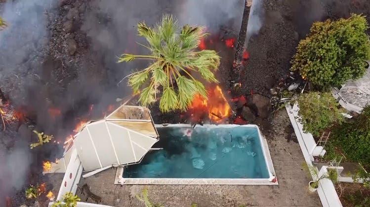 160 zerstörte Gebäude und 6000 Evakuierte: Grosse Schäden durch Vulkanausbruch auf La Palma