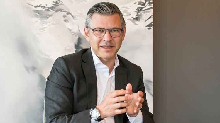 Sieht seine Bank als gesellschaftspolitischen Akteur: BLKB-CEO John Häfelfinger. (Nicole Nars-Zimmer)