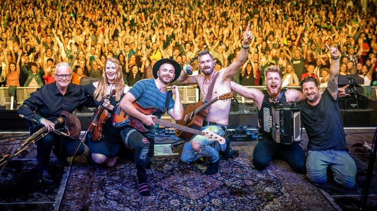 2019 spielte die St.Galler Irish-Rock-Band Saint City Orchestra am Summerdays Festival in Arbon. (Bild: PD)
