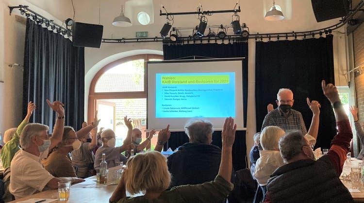 Die Jahresversammlung der Bürgerorganisation «Kein Atommüll im Bözberg» Kaib fand im Kulturlokal Meck in Frick statt. (zvg)